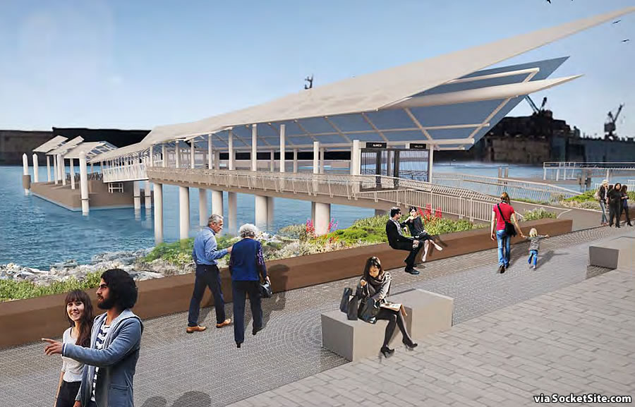 Mission Bay Ferry Landing Rendering