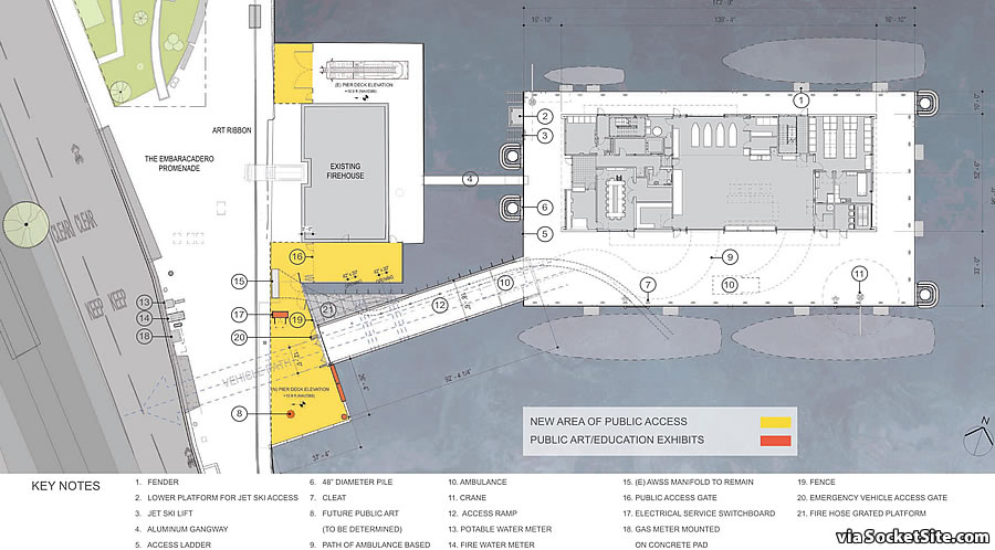 Floating Fire Station 35 Rendering 2018 - Site Plan