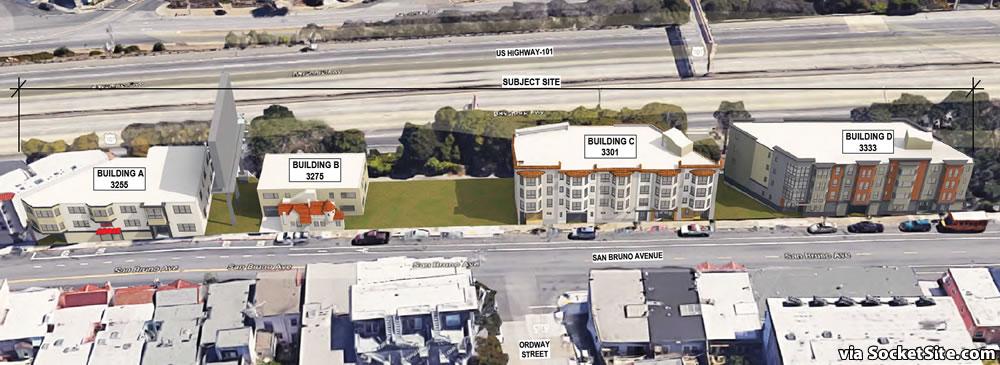 3255-3333 San Bruno Avenue Rendering Aerial