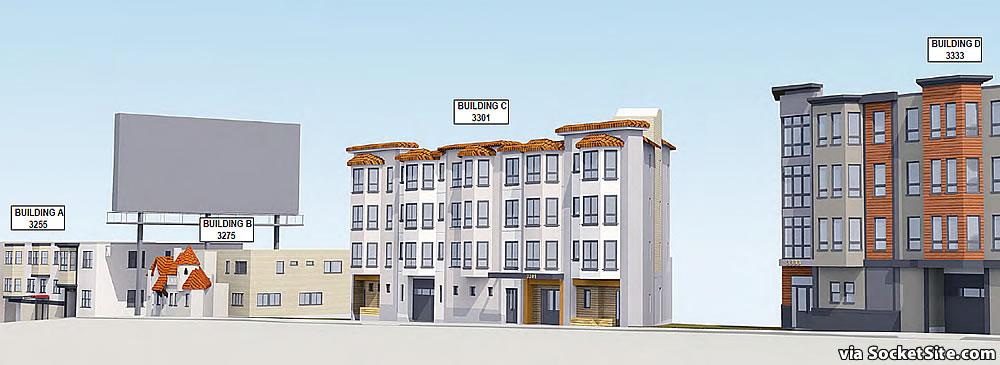 3255-3333 San Bruno Avenue Rendering Street