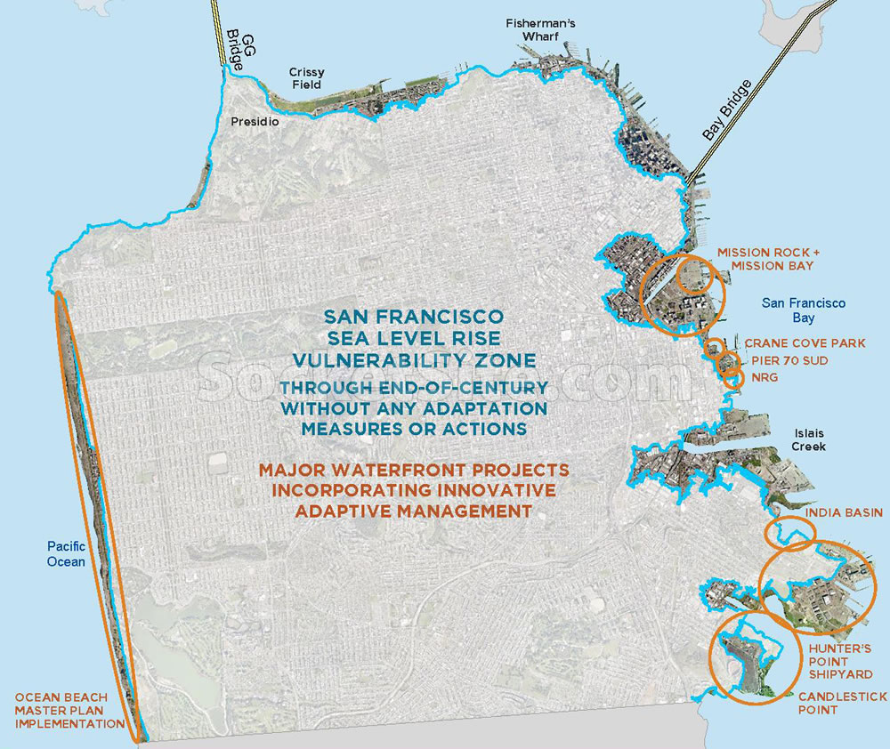 Impact of Sea Level Rise on San Francisco Assessed