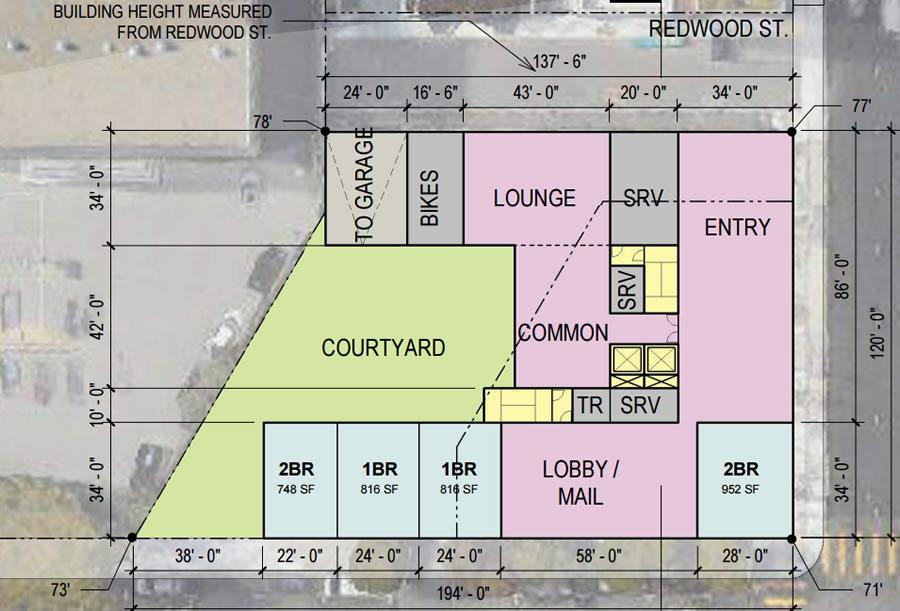 600 McAllister Street Site Plan