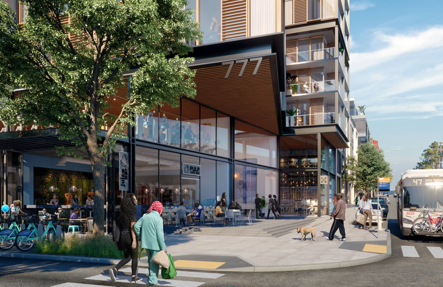 India Basin Redevelopment Rendering 2018 - Retail