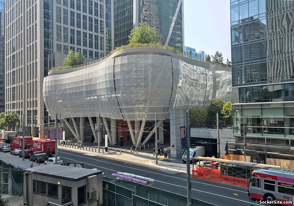 Salesforce Transit Center Repairs Underway