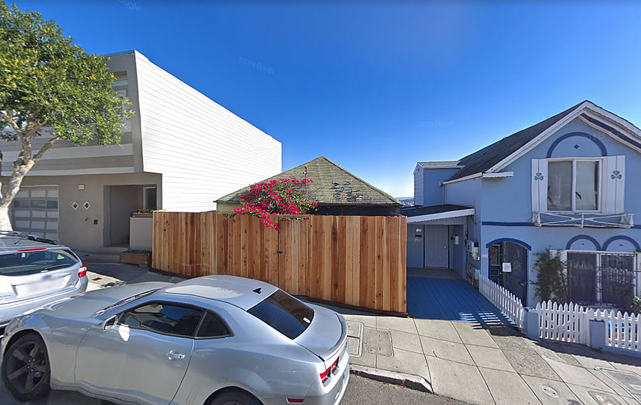 Bernal Heights Home Goes Missing on Gates