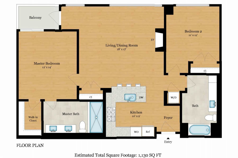 3590 20th Street #205 Floor Plan