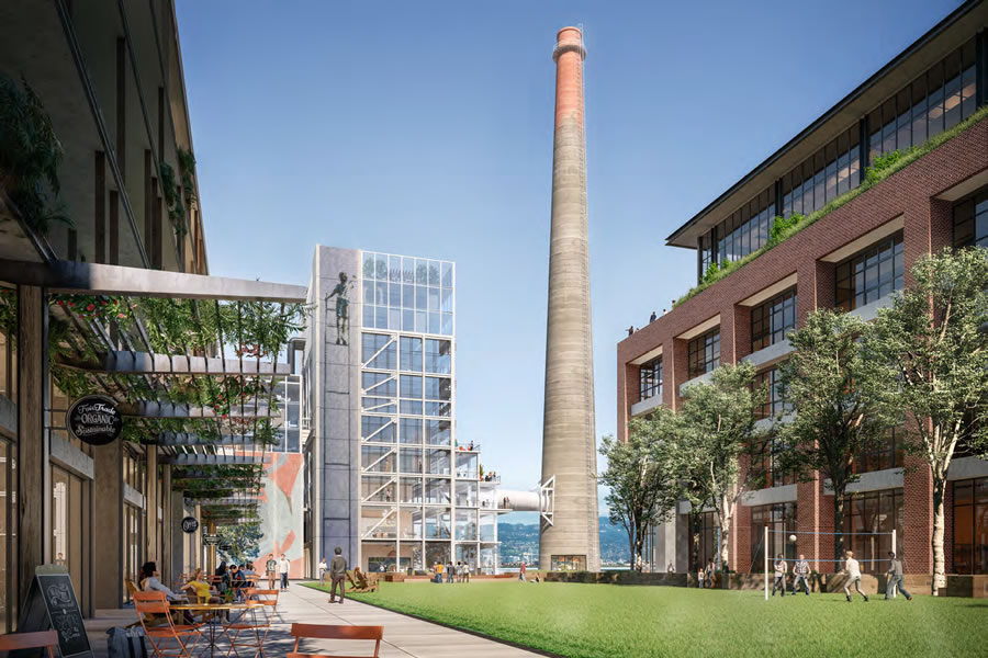 Potrero Power Plant Rendering - Stack