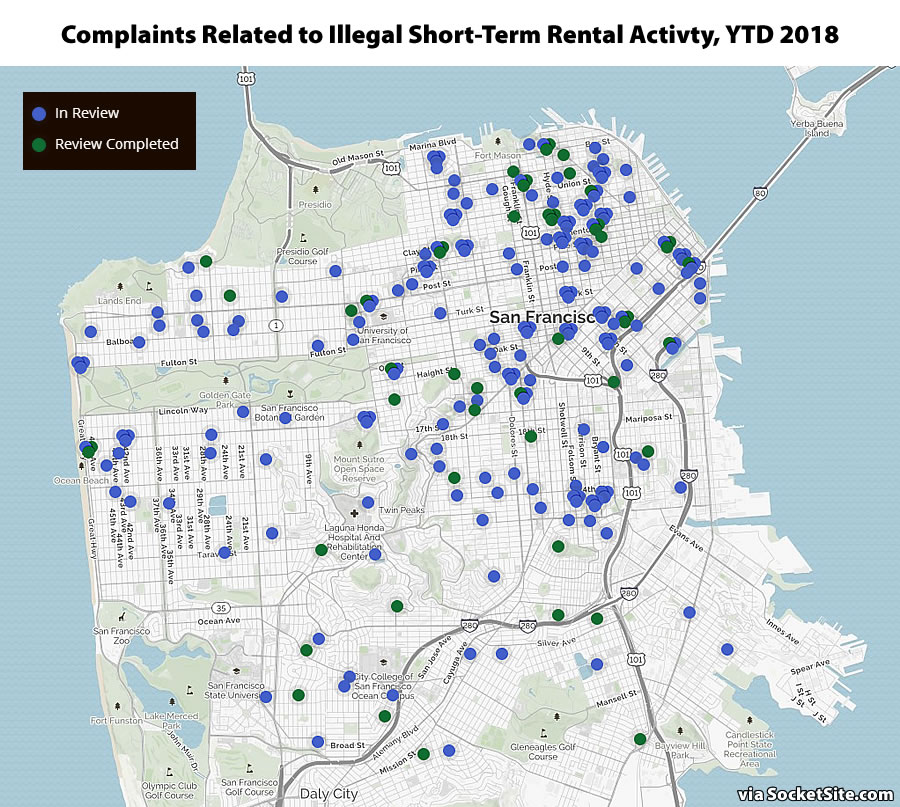 Illegal Airbnb-Ing Activity in SF Persists but on the Decline