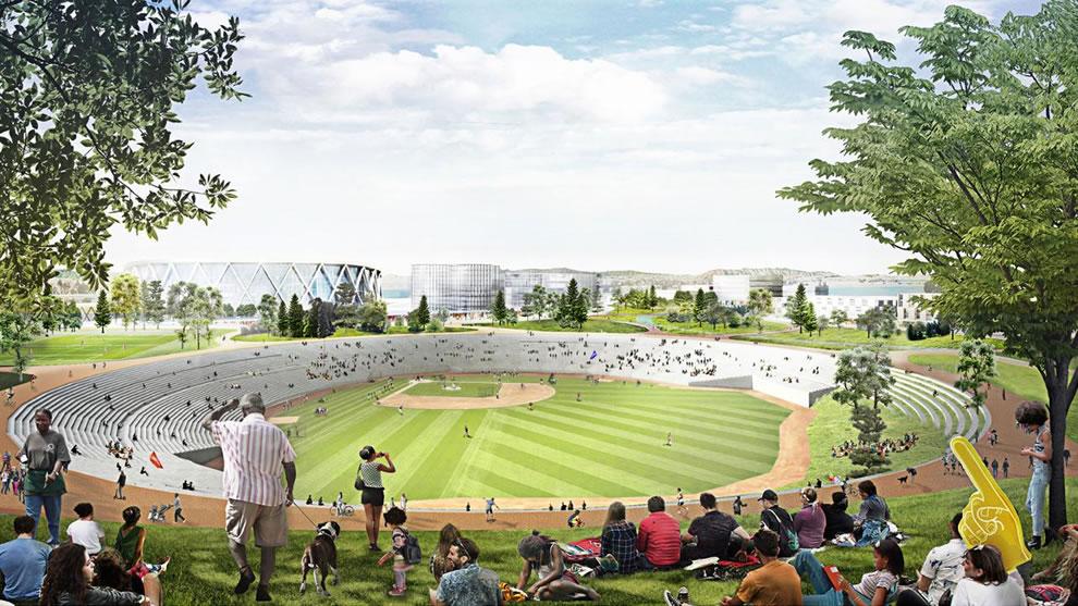 Oakland A's Coliseum Plan 2018 - Amphitheater