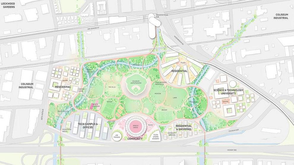 Oakland A's Coliseum Plan 2018 - Site Plan