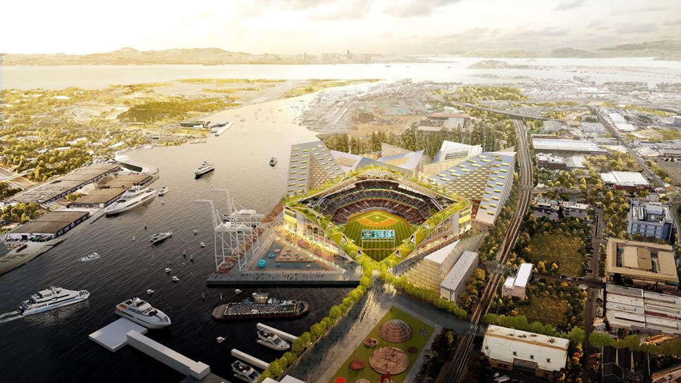 Oakland A's Howard Terminal Rendering 2018