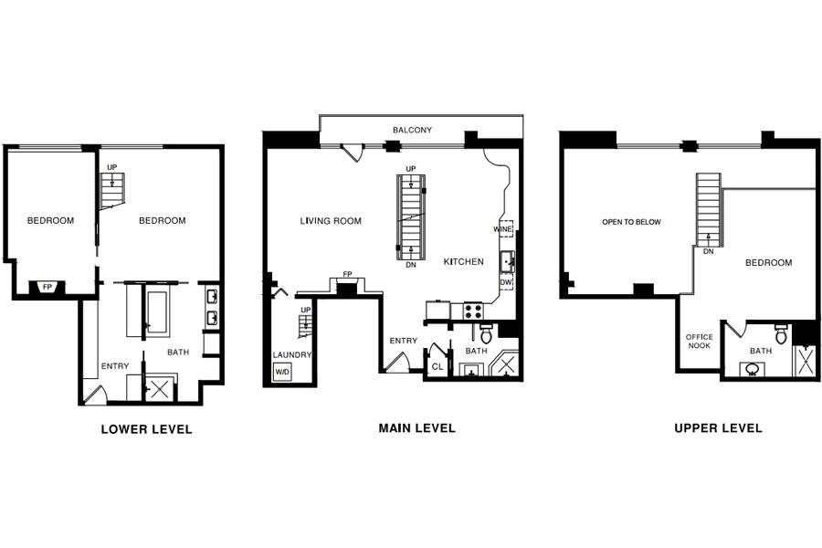 560 Haight Street #106 Floor Plan