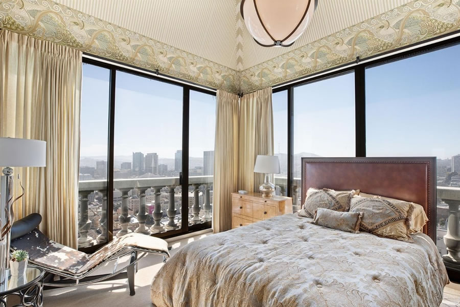 631 O'Farrell Penthouse Bedroom