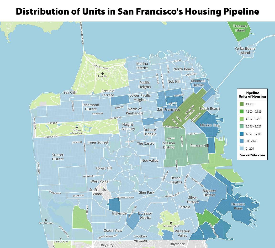 Pipeline of Development in San Francisco Ticks Up, Construction Too