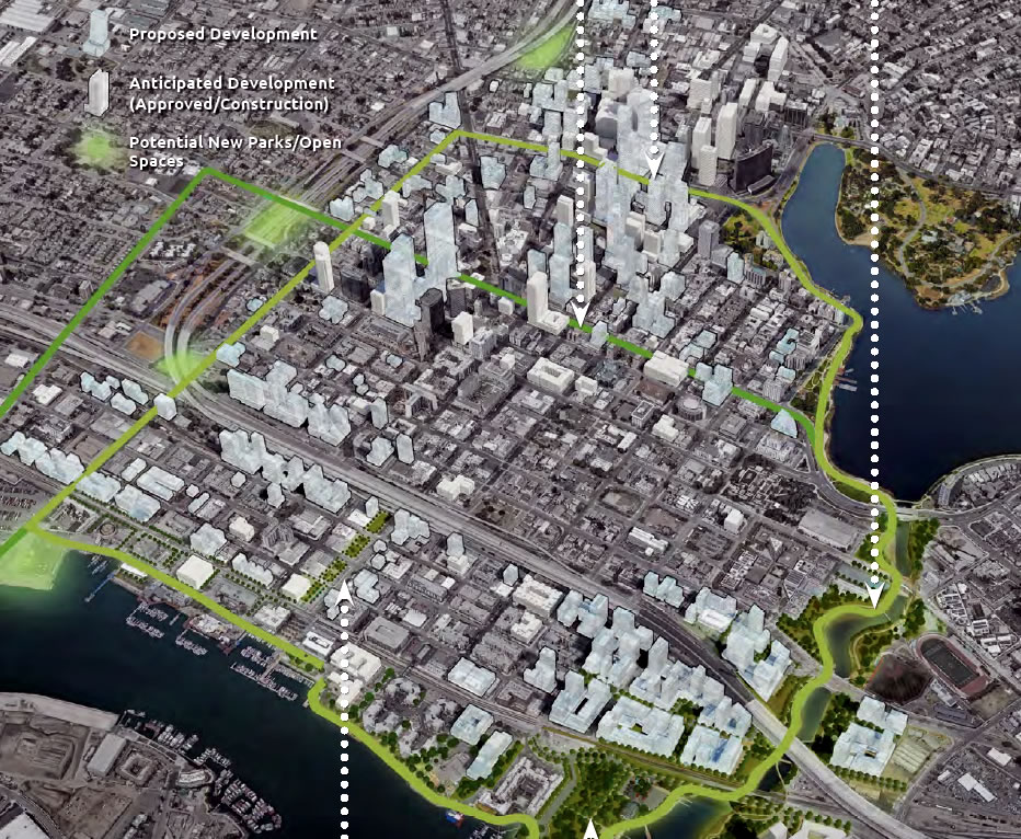 Downtown Oakland Preliminary Draft Plan - Green