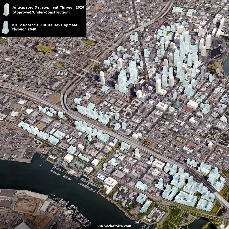 Downtown Oakland Preliminary Draft Plan Massing Map
