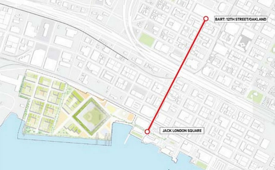 The Oakland A's Proposed Gondola Route and Operations