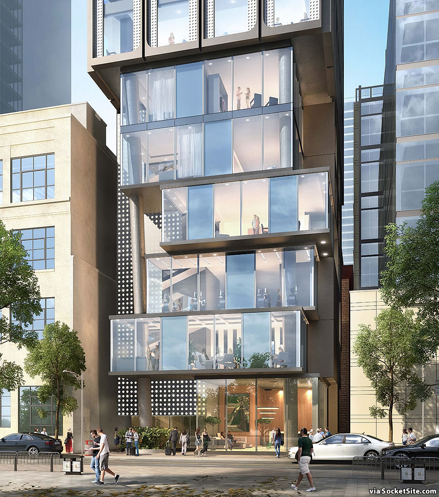 Plans for Slender, 25-Story Micro-Room Hotel Revealed