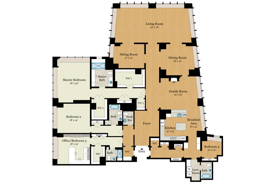765 Market Penthouse #2A Floor Plan