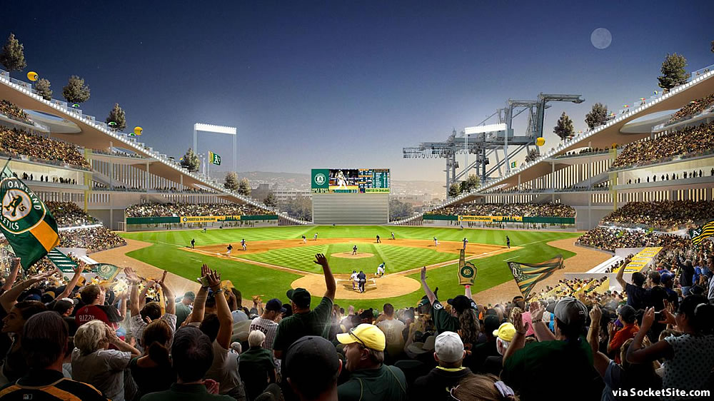 Oakland A's Howard Terminal Rendering 2019 - Home Plate