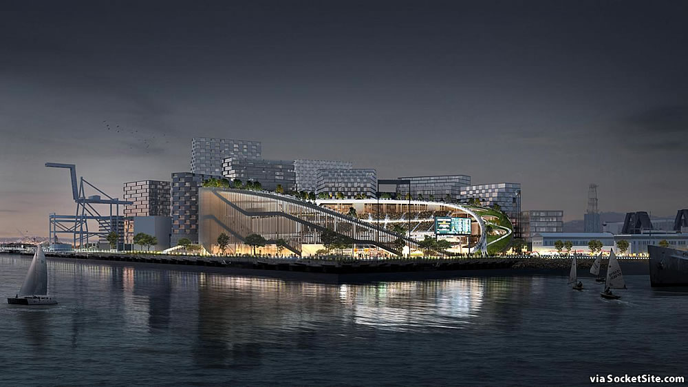 Oakland A's Howard Terminal Rendering 2019 - Waterfront