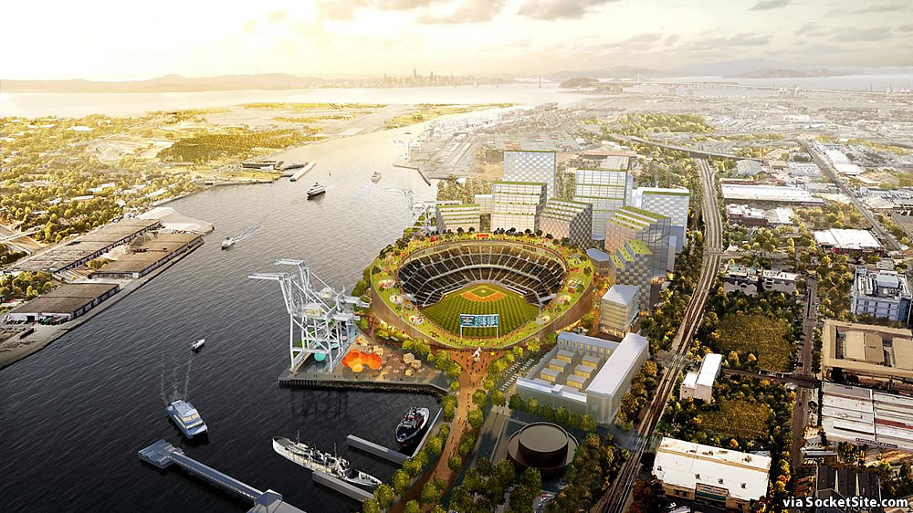 Oakland A's Howard Terminal Rendering 2019