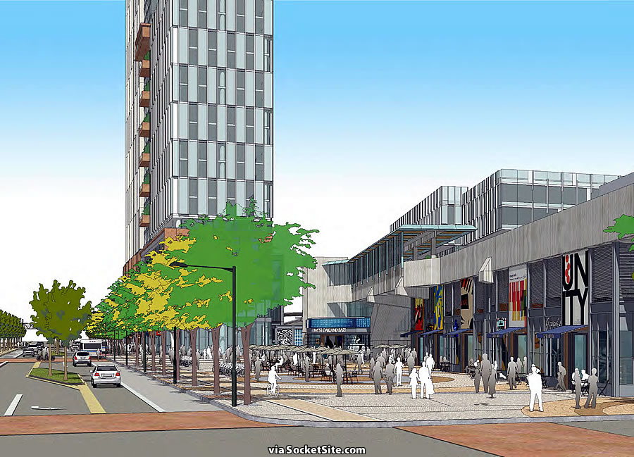 West Oakland Station Rendering - Mandela Plaza
