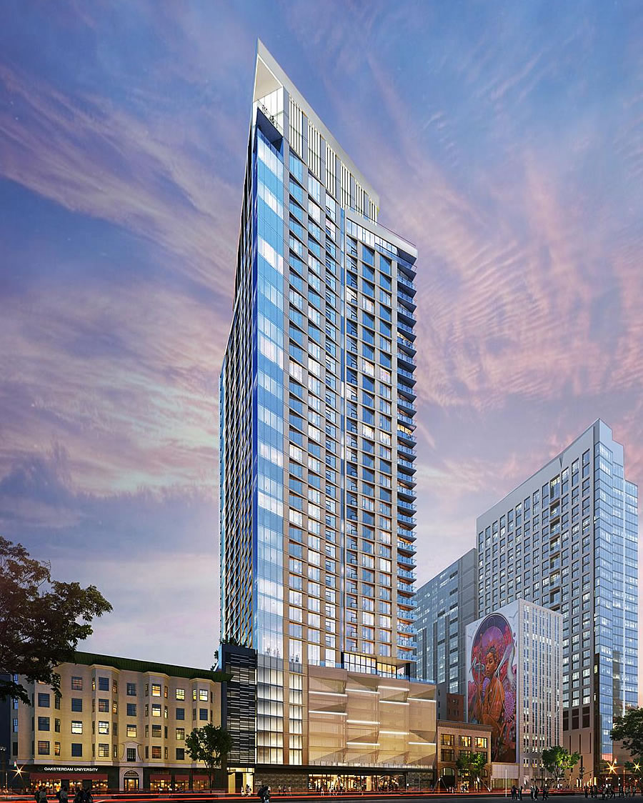 423-Foot-Tall Oakland Tower Approved, but There's a Problem