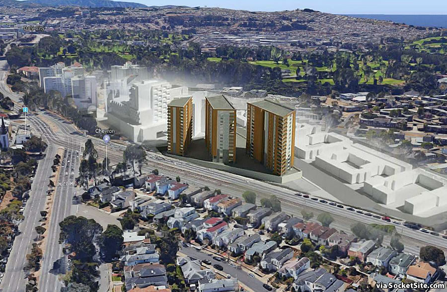 Plans for Three Towers to Rise on Shopping Center Site
