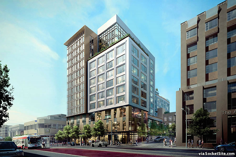 1001 Van Ness Rendering 2019 - Van Ness and Myrtle