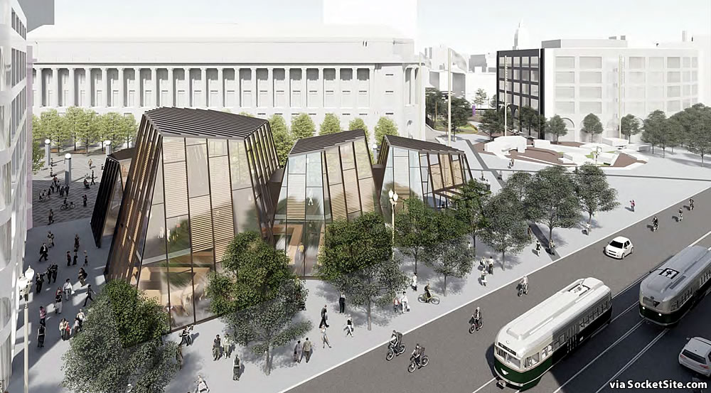 Civic Center Public Realm Plan 2019 - Bart Market Pavillion