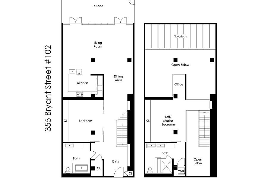 355 Bryant #102 - Floor Plan