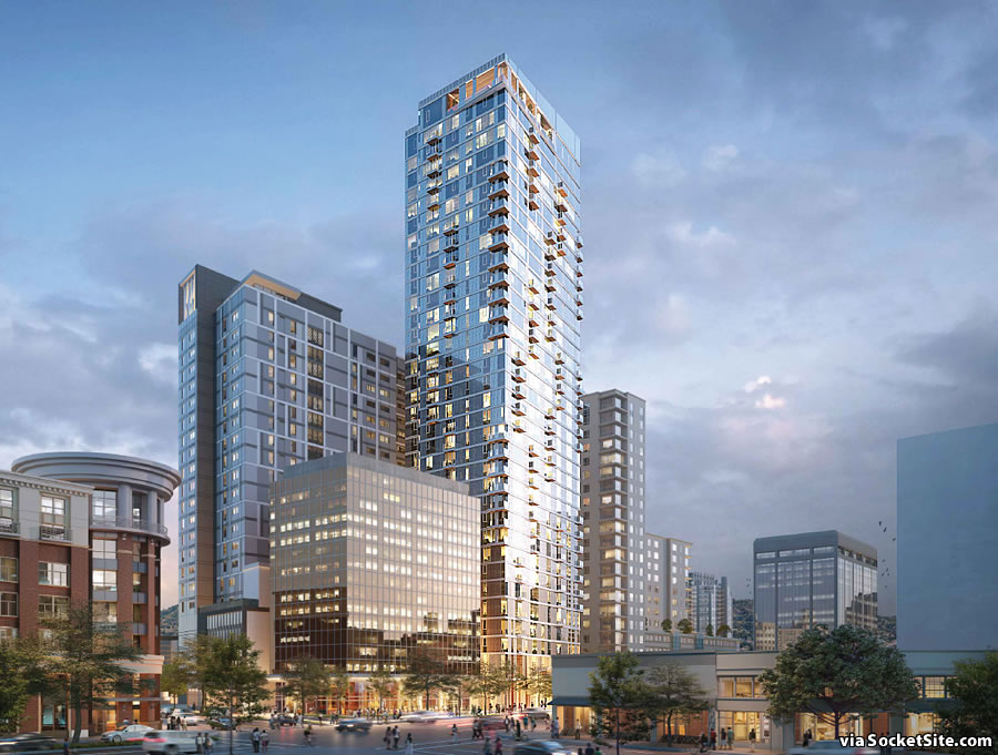 Refined Plans for a 35-Story Oakland Tower (And More)