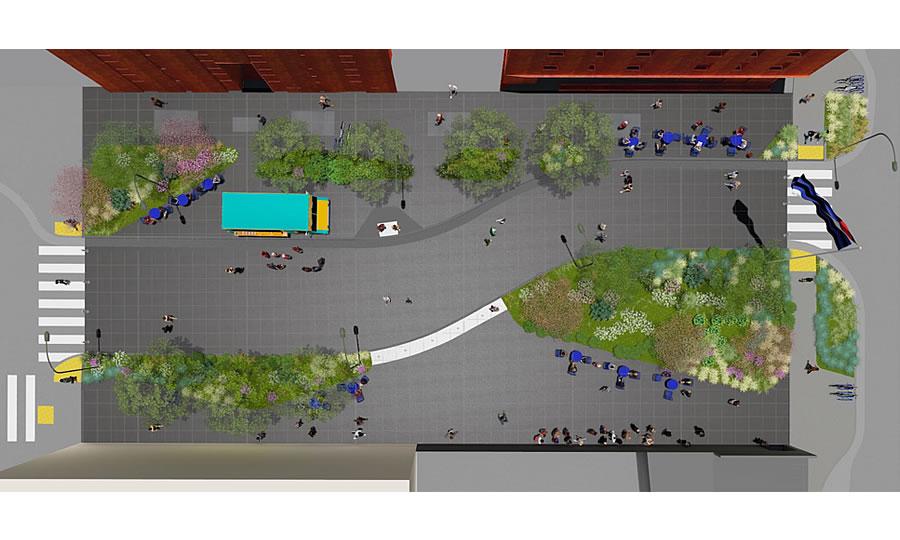 Eagle Plaza Rendering 2019 - Site Plan