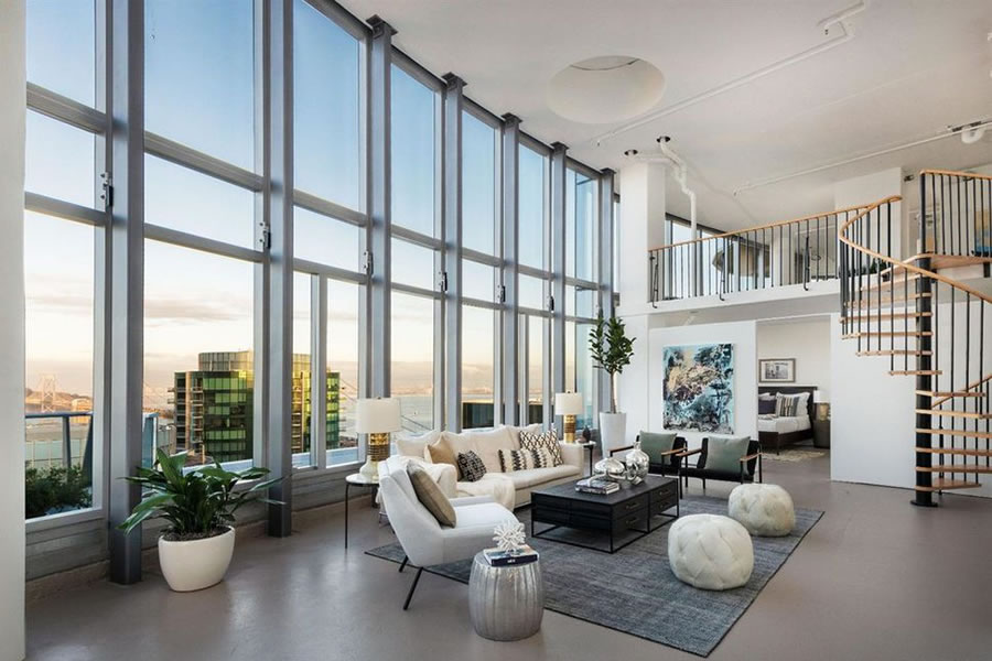 201 Folsom Street #41A - Living Featured