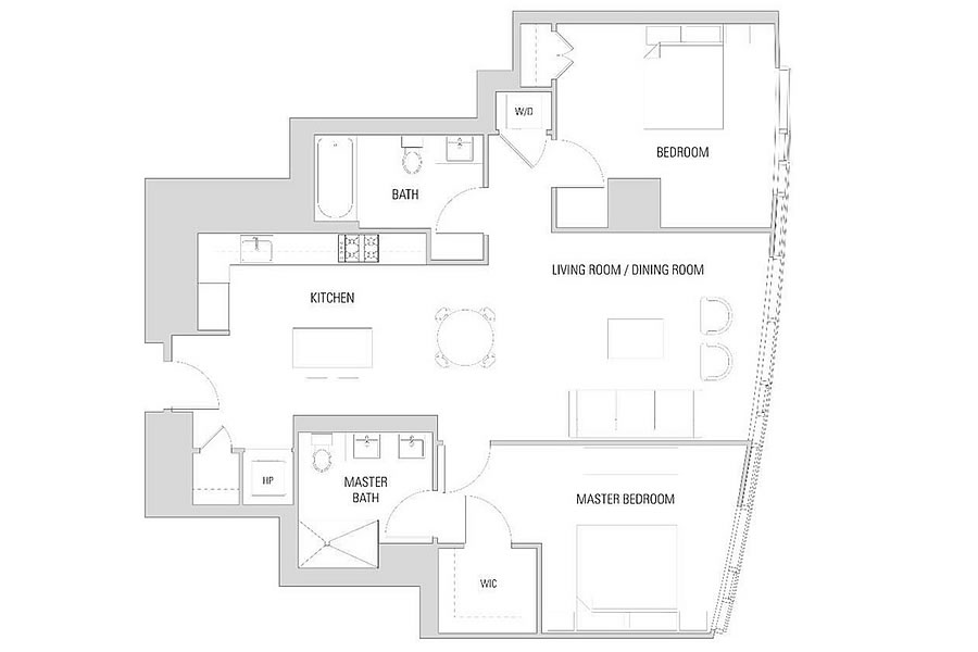 338 Main Street #14B Floor Plan