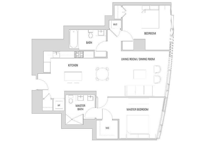 338 Main Street #14B Floor Plan