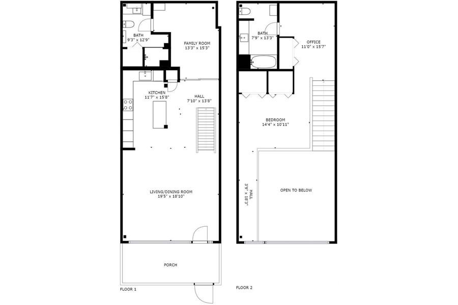 650 Delancey #218 Floor Plan