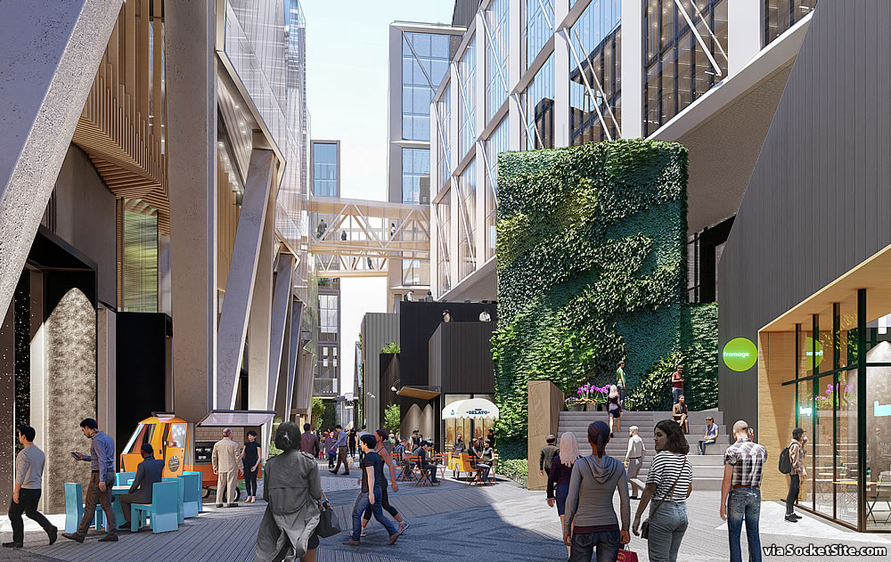 San Francisco Flower Mart Rendering - Market Alley