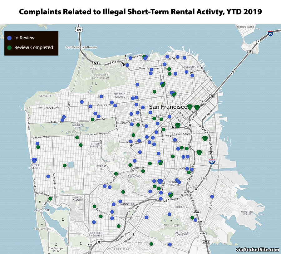 Reports of Illegal Airbnb-ing Continue to Drop in San Francisco