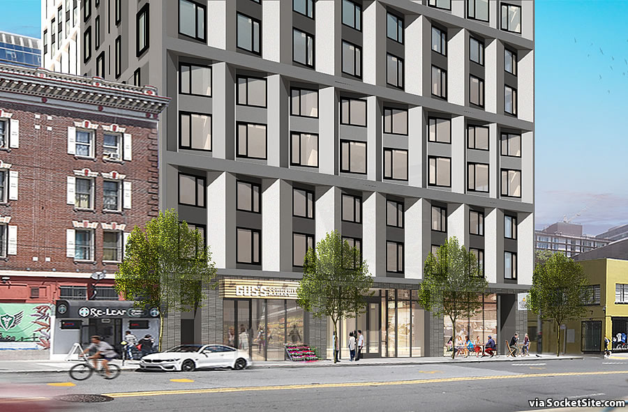 1270 Mission Street Rendering 2019 - Ground Floor