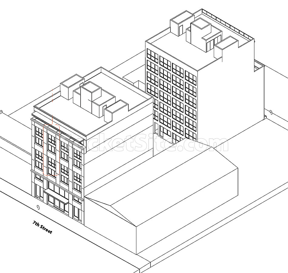 262 7th Street Rendering - Isometric
