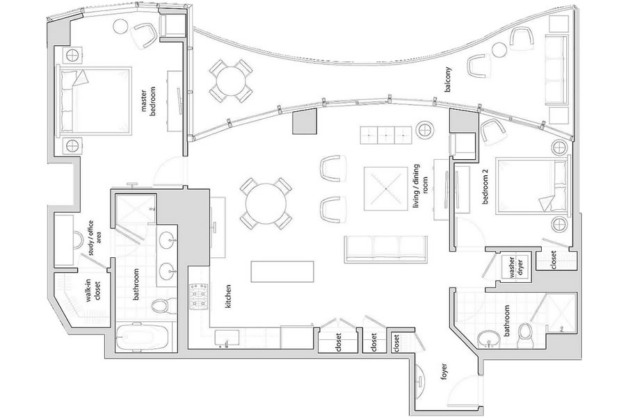 301 Main Street #29A Floor Plan