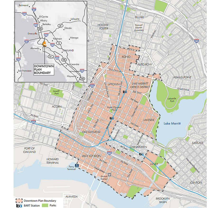 Downtown Oakland Draft Plan - Map