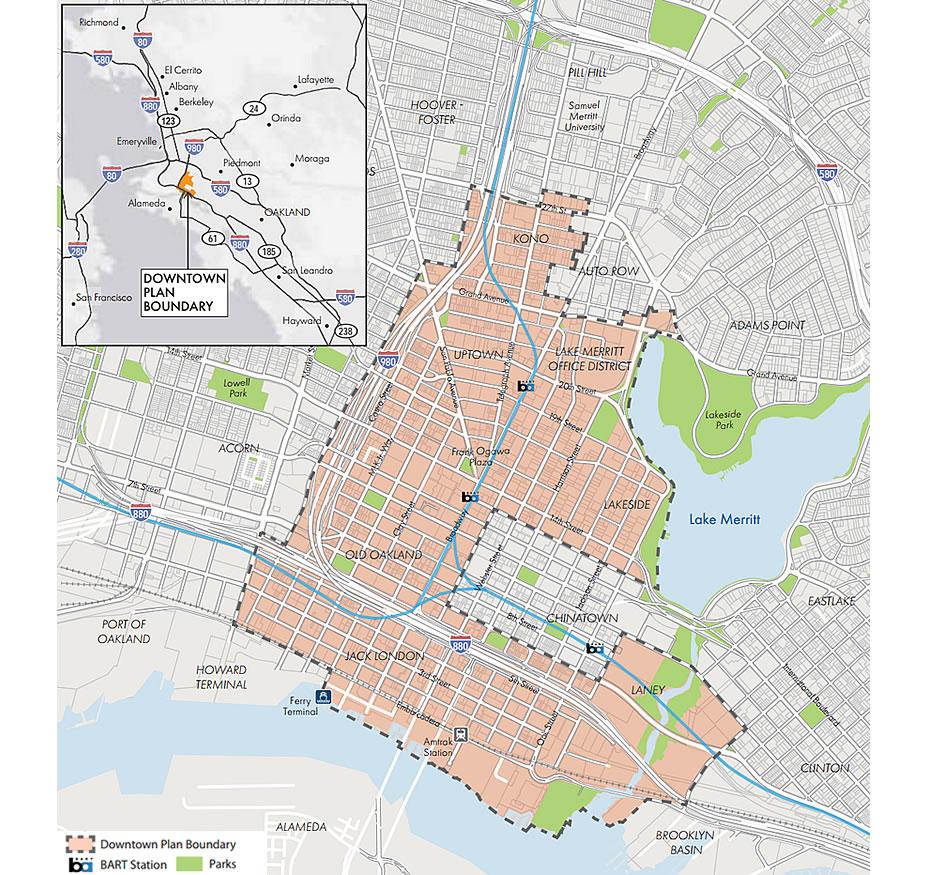 Downtown Oakland Draft Plan - Map