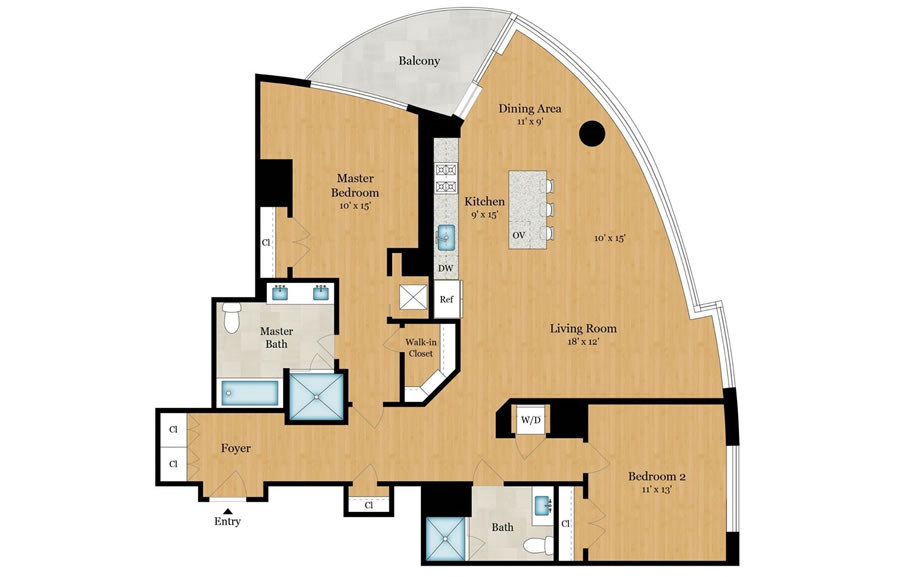 338 Main Street #21G - Floor Plan
