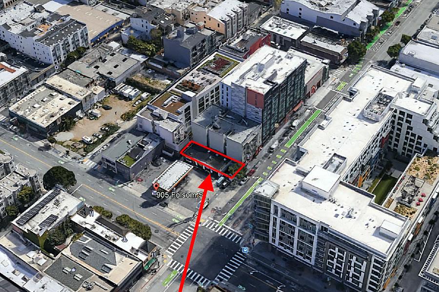 905 Folsom Street Site - Aerial