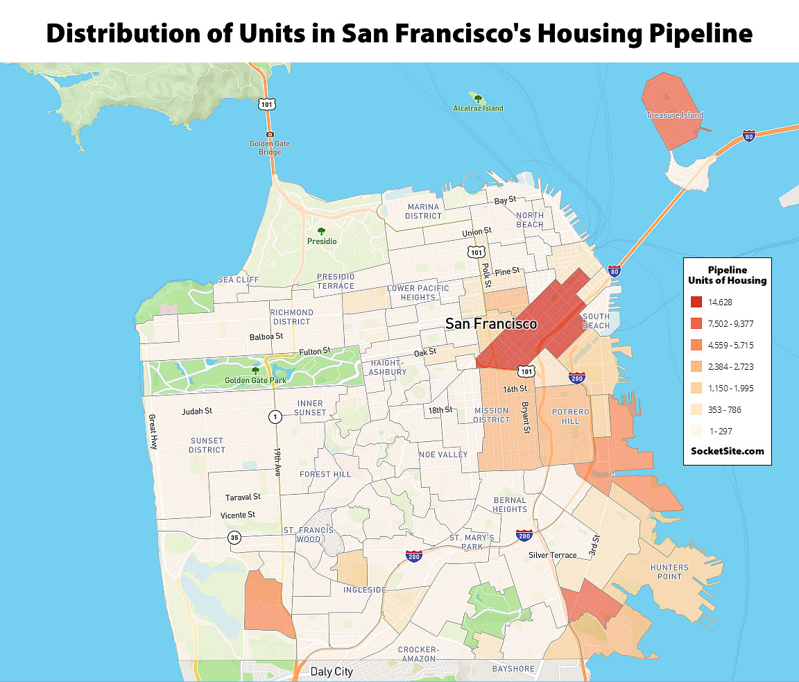 Housing Pipeline in San Francisco Slips but Building Actually Jumps