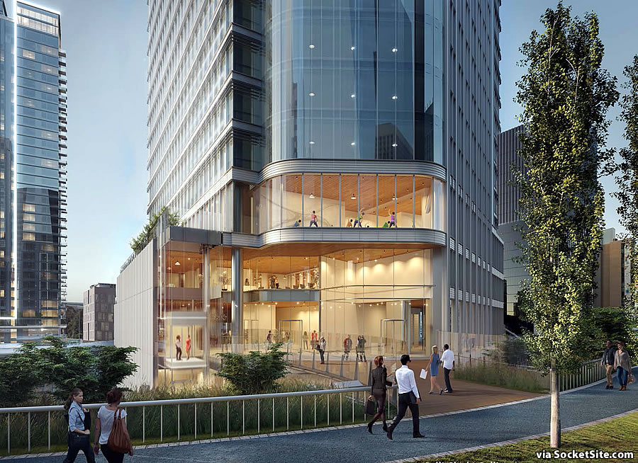 Transbay Parcel F Rendering 2019 - Bridge Entrance