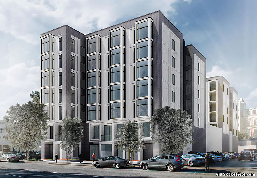 2233 Post Street Rendering - Geary